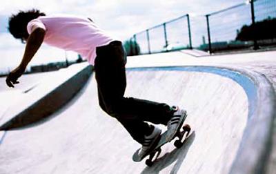 Motiv: Skateboarden